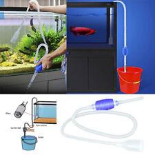 Plastic Aquarium Vacuum Water Pulling Changer Cleaner Fish Tank Siphon Pump Tool