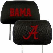 Alabama Crimson Tide 2-Pack Auto Car Truck Embroidered Headrest Covers