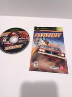 FlatOut (Microsoft Xbox, 2005) Disc and Manual Fast Shipping