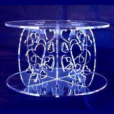 acrilico CUORI CROCE PIOLI 10cm, 15cm Base & Top, Matrimonio & FESTA torta stand