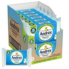 Andrex Washlets Classic Clean Flushable Toilet Wipes, 12 Packs of 40 Wipes