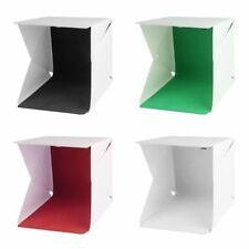 Studio Photography Photo Lighting Shoot Tent Box Kit 4 Backdrops Light Portable