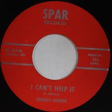 HERBERT HUNTER: I Can't Help / Cheating Heart SPAR Deep Soul 45 NM- Hear