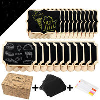 50xMini Chalkboard Sign Wooden Blackboard Message Table Stand Wedding Party Deco