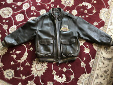 AVIREX TUSKEGEE AIRMAN BROWN LEATHER JACKET