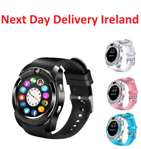 V8 Smart Watch&SIM Phone&Bluetooth Camera&GPS For Samsung iPhone iOS Android