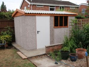 SECURE CONCRETE SECTIONAL SHED