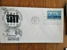 WOMEN IN THE ARMED SERVICES WACS WAVES ARMY NAVY MARINES 1952 ARTCRAFT CACHT FDC