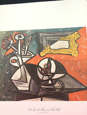 FINE ART PRINT 11X17 by ** PABLO PICASSO ** LIFE with FLOWERS and FRUIT DISH