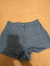 Ladies Hotpants Waist 26 Blue Shorts