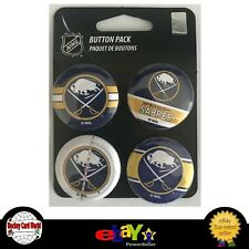 "(HCW) Buffalo Sabres Wincraft NHL Button 4 Pack 1.25"" Round Licensed"