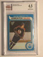 1979 Wayne Gretzky Topps #18 Rookie RC Edmonton Oilers Card BGS BVG 4.5 VG-EX+