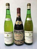 Lotto 3 Bottiglie Vino Ritrovamento Cantina Vintage