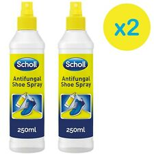 2 x Scholl Antifungal Shoe Spray Disinfectant, 250 ml, Athletes Foot Fungal Nail