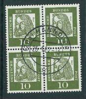 BRD Michel-Nr. 350x Viererblock - 4er Block - gestempelt - Mi. 15,-
