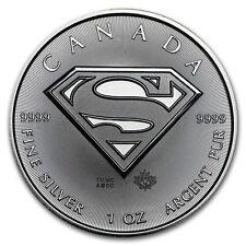 1 Oz Superman 5 dollars $ silver 2016, Canada 1 oncia di argento 999,9/1000