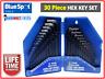 Bluespot 30 Piece Metric & Imperial Hex Allen Key Long Set Kit Allan Alan 15320