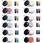 Hot 12 COLORS Glitter Magic Mirror Chrome Effect Dust Shimmer Nail Art Powder CC