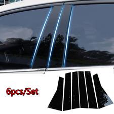 Black Pillar Posts For Honda CRV 2012-2016 6pc Set Door Trim Piano Cover Window