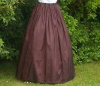 Ladies Victorian / Edwardian costume SKIRT gentry / ball gown fancy dress brown