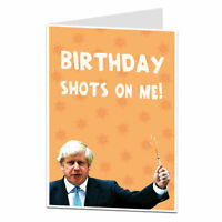 Funny Birthday Card For Men Women Boris Lockdown Theme