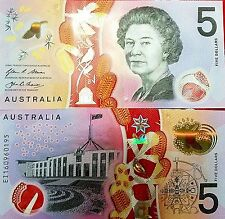 C) AUSTRALIA BANK NOTE 5 DOLLARS PARLIAMENT HOUSE NEW UNC PLASTIC  POLYMER