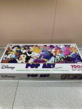 Disney POP ART Princess Panoramic 700 pc Jigsaw Puzzle Snow Ariel Cinderella