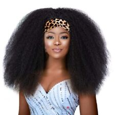 Kinky Curly Headband Wig Fluffy Afro Kinky Curly Wigs for Black Women .