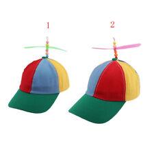 Kid/Adult Propeller Hat Colorful Funny Baseball Hat Propeller Bamboo Sun Hat