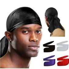 Pink Men's Durag Bandanna Sport Du Rag Scarf Head Rap Tie Down Band Biker Cap UK