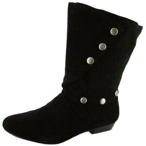 Fergie Women 'Shimmy' Ankle High Boot Shoe, Black Suede, US 5.5