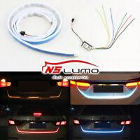 """120CM 47"""" LED Streifen Auto Schwanz Trunk Licht Bremse Fahrsignal fließt 4 Farbe"""