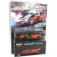 MINI GT MGT00018 McLAREN SENNA 1/64 DIECAST ORANGE with BLACK WHEELS Chase