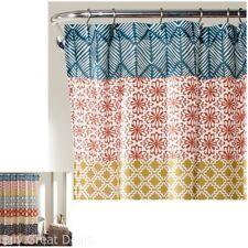 Lush Decor 16T000209 Bohemian Stripe Shower Curtain, 72 X 72In, Turquoise/Orange