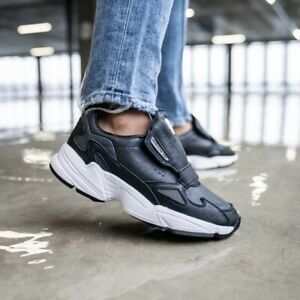 🚨 Adidas Falcon RX Women's Athletic Shoe Running Sneaker Black Tennis Trainers
