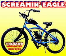 """50 80cc Gas Motor Complete Screaming Eagle Engine & 26"""" Bike Bicycle Moped Kit"""