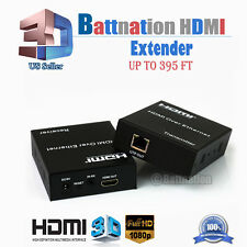 1080P HDMI 120m/60mExtender Over Single Cable with IR CAT5E/6 Ethernet RJ45 FHD