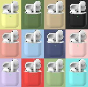 Case For Apple Airpods 1 & 2 Silicone Shockproof Slim Skin Earphones Cute Cover