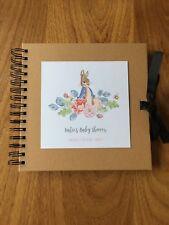 Personalised Peter Rabbit Baby Shower Memory Book
