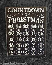 Primitives by Kathy Chalkboard Countdown to Christmas Advent Calendar Box Sign