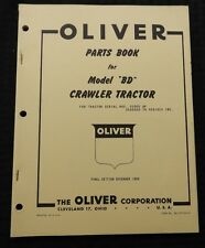GENUINE 1959 OLIVER MODEL BD CRAWLER TRACTOR PARTS CATALOG MANUAL NICE