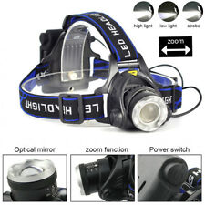 6000LM XM-L T6 LED Headlamp Zoomable Headlight Flashlight AA Head Torch Fishing
