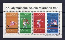 1972 Alemania Occidental Juegos Olímpicos Ms (Sg ms1633) Mnh