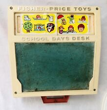 Vtg 1972 Fisher Price Kids School Days Activity Learning Letters Play Desk Toys