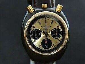 VTGE RARE CITIZEN BULLHEAD BROWN 8110 GOLDEN BRAD PITT DIAL 1979 EXCELLENT. MINT