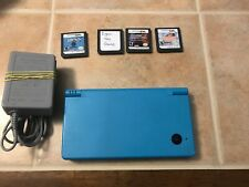 Nintendo DSi TWL-001 Handheld Console System, Light Blue With Games! Tested