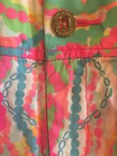"Lilly Pulitzer Callahan Short Multi Dripping in Jewels Print 5"" Inseam Sz 8"