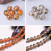 Wholesale 14mm Round Lampwork Glass Loose Spacer Beads DIY Jewelry Findings