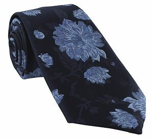 Michelsons of London Large Floral Polyester Tie