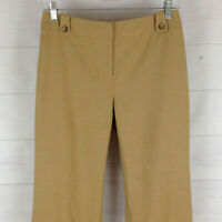 Ann Taylor womens size 2P stretch solid beige flat front cuffed dress pants LNC